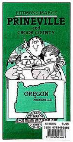 Buy map Prineville and Crook County, Oregon by Pittmon Map Company