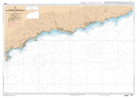 Buy map Du Cap Ferrat a Capo San Lorenzo by SHOM