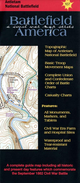 Buy map Antietam National Battlefield, Map 107 by Trailhead Graphics, Inc.