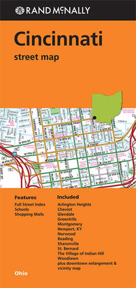 Buy map Cincinnati, Ohio by Rand McNally