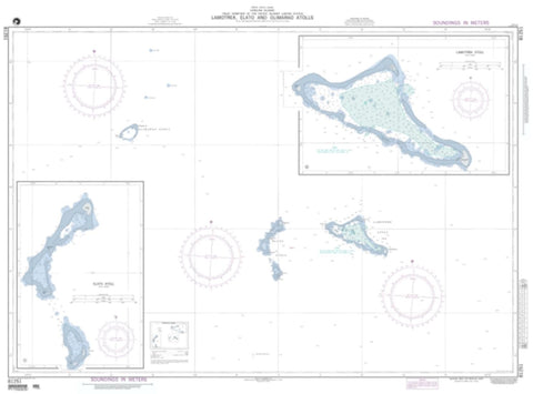 Buy map Lamotrek, Elato And Olimarao Atolls (Caroline Islands) (NGA-81251-1) by National Geospatial-Intelligence Agency