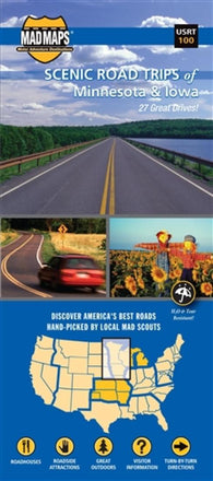 Buy map Minnesota and Iowa, Regional Scenic Tours by MAD Maps