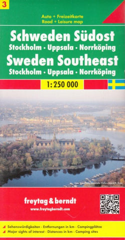 Buy map Sweden, Southeast, Stockholm, Uppsala and Norrkoping by Freytag-Berndt und Artaria