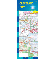 Buy map Cleveland, Ohio, Pearl Map, laminated by GM Johnson