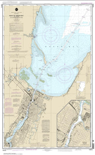 Buy map Head of Green Bay, including Fox River below De Pere; Green Bay (14918-27) by NOAA