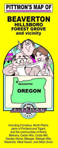 Buy map Beaverton, Hillsboro, and Forest Grove, Oregon and vicinity by Pittmon Map Company