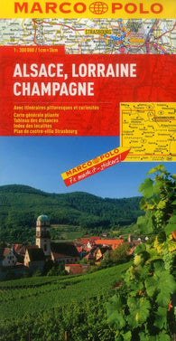 Buy map Alsace, Lorraine and Champagne, France by Marco Polo Travel Publishing Ltd
