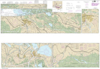 Buy map Intracoastal Waterway Catahoula Bay to Wax Lake Outlet including the Houma Navigation canal (11355-30) by NOAA