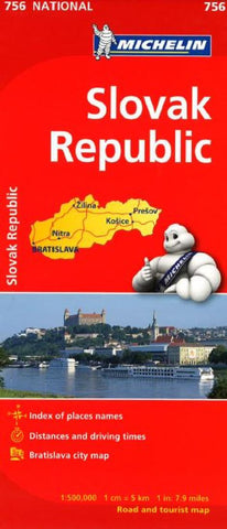 Buy map Slovak Republic (756) by Michelin Maps and Guides