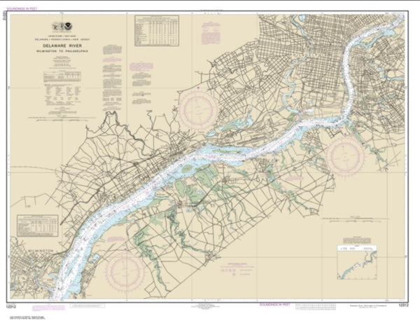 Buy map Delaware River Wilmington to Philadelphia (12312-56) by NOAA