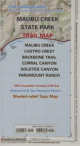Buy map Malibu Creek State Park, California by Tom Harrison Maps
