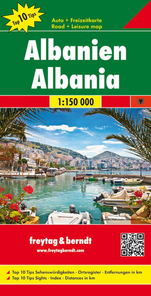 Buy map Albania by Freytag-Berndt und Artaria
