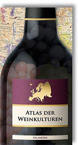 Buy map Atlas of Wine Cultures : Europe by Kalimedia