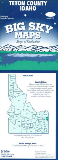 Buy map Teton County, Idaho by Big Sky Maps