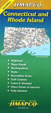 Buy map Connecticut and Rhode Island by Jimapco