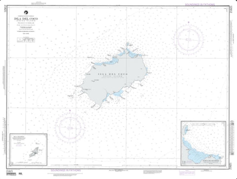 Buy map Isla Del Coco (NGA-21621-10) by National Geospatial-Intelligence Agency
