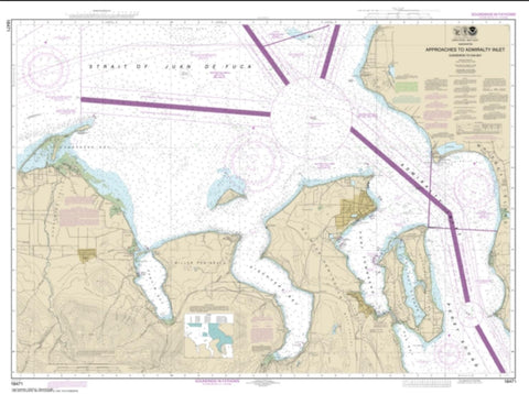 Buy map Approaches to Admiralty Inlet Dungeness to Oak Bay (18471-11) by NOAA