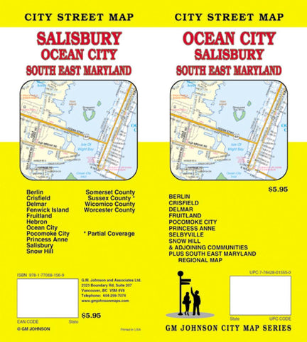 Buy map Ocean City, Salisbury and Southeast Maryland by GM Johnson