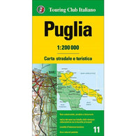 Buy map Puglia, Italy by Touring Club Italiano