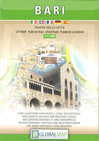 Buy map Bari, Italy by Litografia Artistica Cartografica