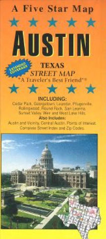 Buy map Austin, Texas by Five Star Maps, Inc.