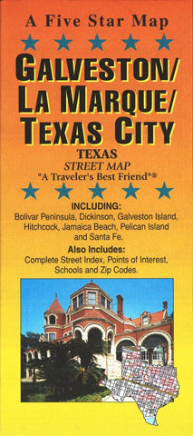 Buy map Galveston and Texas City, Texas by Five Star Maps, Inc.