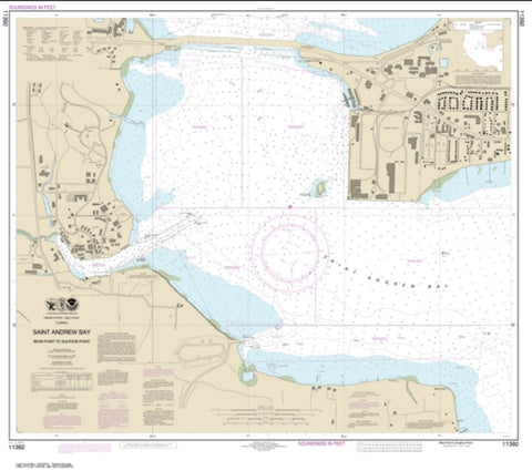 Buy map St. Andrew Bay - Bear Point to Sulpher Point (11392-8) by NOAA