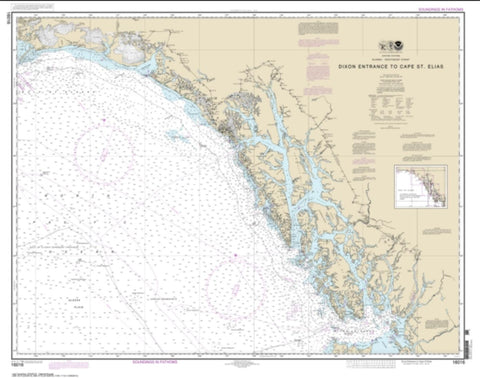 Buy map Dixon Entrance to Cape St. Elias (16016-22) by NOAA
