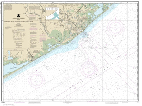 Buy map San Luis Pass to East Matagorda Bay (11321-30) by NOAA