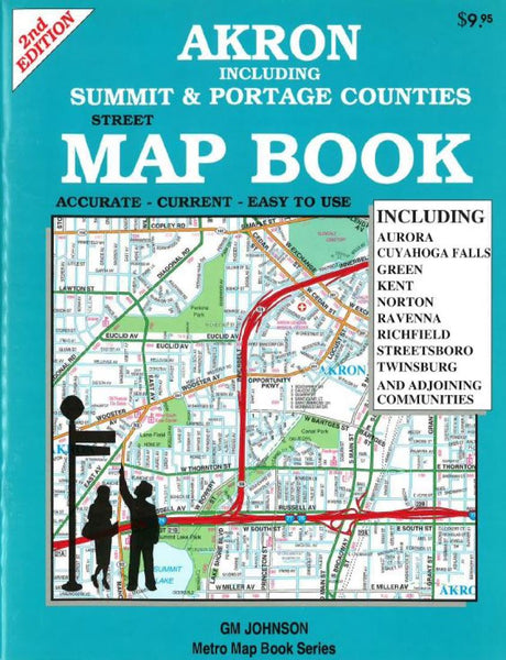 Buy map Akron, Ohio including Summit and Portage Counties by GM Johnson