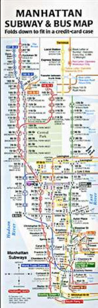 Buy map Compact Manhattan Subway and Bus Map by Tauranac Press