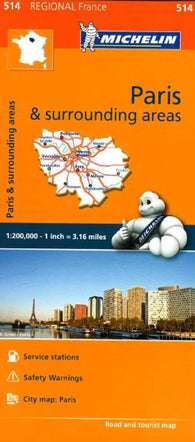 Buy map Ile de France, Paris and Surrounding Areas (514) by Michelin Maps and Guides