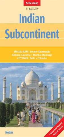 Buy map Indian Subcontinent by Nelles Verlag GmbH