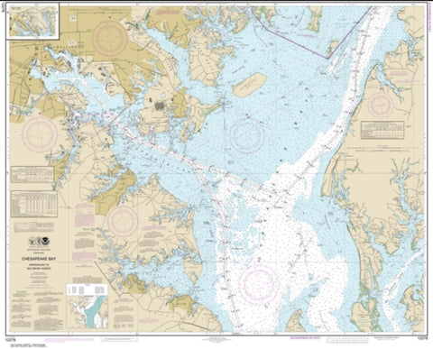 Buy map Chesapeake Bay Approaches to Baltimore Harbor (12278-79) by NOAA