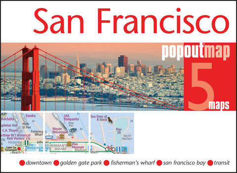 Buy map San Francisco, California, PopOut Map by PopOut Products