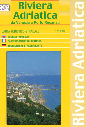 Buy map Riviera Adriatica, From Venice to Porto Recanati by Litografia Artistica Cartografica