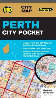 Buy map Perth City, Australia, Pocket by Universal Publishers Pty Ltd