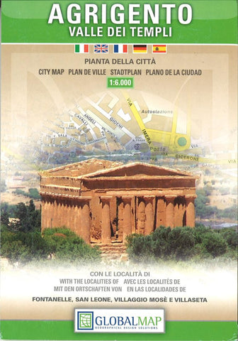 Buy map Agrigento and the Valley of the Temples, Italy by Litografia Artistica Cartografica