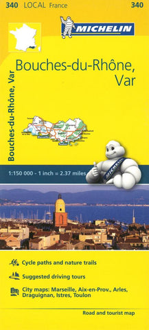 Buy map Michelin: Bouches Du Rhone, Var, France Road and Tourist Map by Michelin Travel Partner