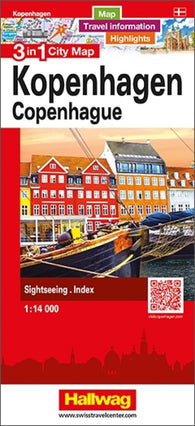 Buy map Copenhagen 3 in 1 City Map by Hallwag