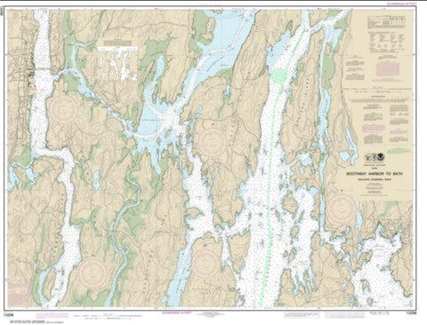 Buy map Boothbay Harbor to Bath, Including Kennebec River (13296-26) by NOAA