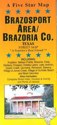 Buy map Brazosport and Brazoria County, Texas by Five Star Maps, Inc.