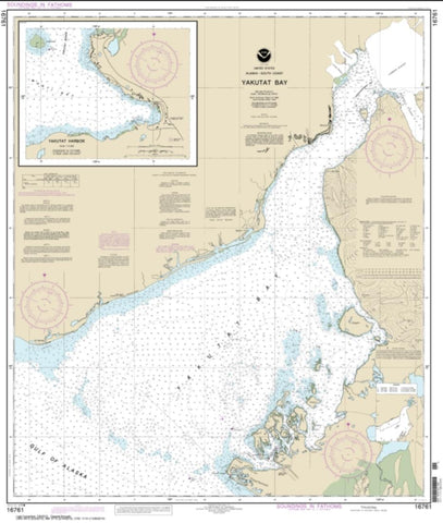 Buy map Yakutat Bay; Yakutat Harbor (16761-16) by NOAA