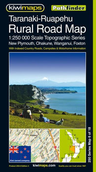 Buy map Taranaki-Ruapehu Rural Roads, New Zealand, Topographic Map by Kiwi Maps