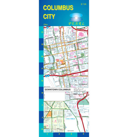 Buy map Columbus, Ohio, Pearl Map, laminated by GM Johnson