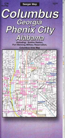 Buy map Columbus, Georgia and Phenix City, Alabama by The Seeger Map Company Inc.