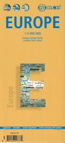 Buy map Europe by Borch GmbH.