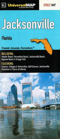 Buy map Jacksonville, Florida by Kappa Map Group