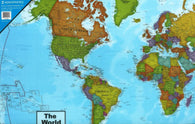 Buy map World, Political, Desk Pad by Round World Products, Inc.