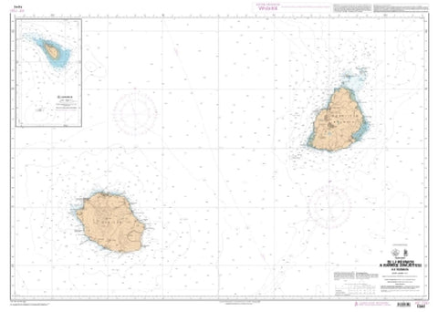 Buy map De la Reunion a Maurice (Mauritius) - Ile Tromelin by SHOM